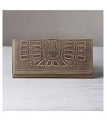 leather wallet, 'avian muse' (peru)