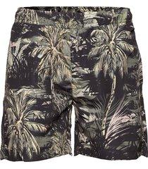 swim shorts aop badshorts grön lindbergh