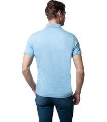 koszulka polo volley błękit