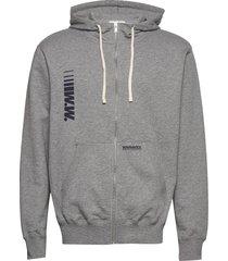 danny zip hoodie hoodie trui grijs wood wood