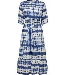 dust knälång klänning blå mango