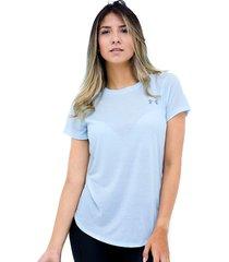 camiseta azul under armour streaker 2.0 heather shor