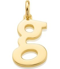 alphabet pendant g, gold vermeil on silver