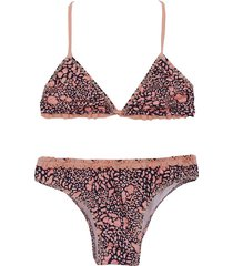 bikini etlan animal print mapamondo