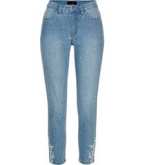 jeans cropped ricamati (blu) - bpc selection