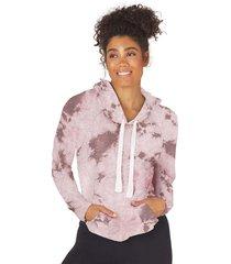 glyder women's rocky hoodie - bone tie dye - x-small spandex