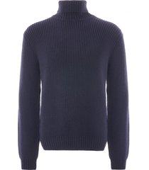 edwin line roll neck sweatshirt | navy | i027273-67