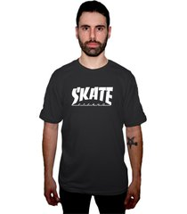 camiseta manga curta skate eterno pentagrama grafite - grafite - masculino - dafiti