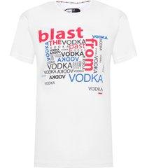 camiseta masculina blast vodka - branco
