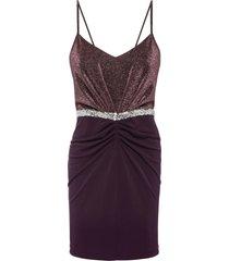 abito con glitter (viola) - bodyflirt boutique