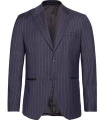 slhslim-drew navy stripe blz b blazer colbert blauw selected homme