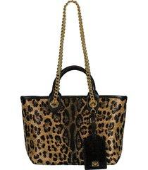 capri leopard print mini tote