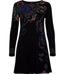 vest washintong jurk knielengte zwart desigual