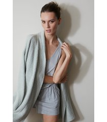 natori serenity cardigan top, women's, size l