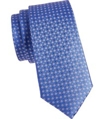 canali men's geo-print silk tie - blue