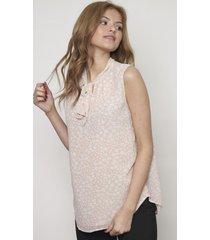 blusa sin mangas con lazada rosada 609 seisceronueve