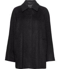 montreal coat wollen jas lange jas zwart filippa k