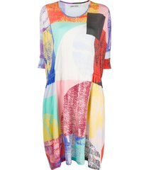 henrik vibskov blurry lights print loose fit dress - pink