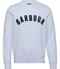 barbour prep logo crew sweat-shirt tröja vit barbour