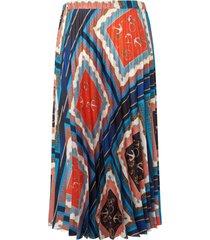 rok met sjaalprint van peter hahn multicolour