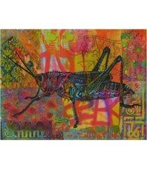 "dean russo grasshopper stencil canvas art - 37"" x 49"""