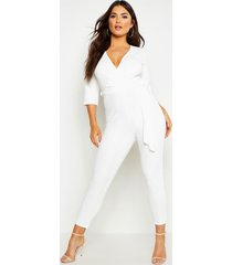 wrap jumpsuit, ivory