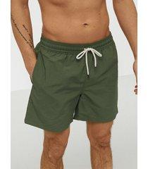 polo ralph lauren traveler swim shorts badkläder olive