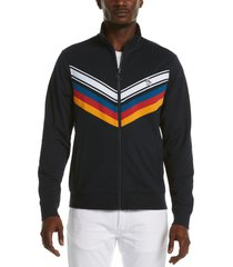 men's original penguin chevron stripe track jacket, size xx-large r - blue