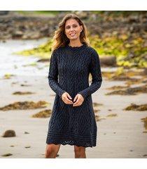 the glenmore charcoal aran dress medium