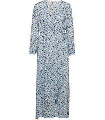 leslie jurk knielengte blauw custommade