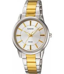 mtp-1303sg-7av reloj casio bicolor para hombre 100% original