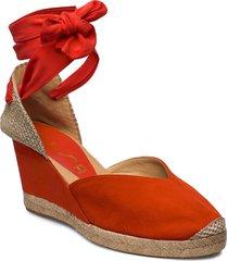chufy_ks sandalette med klack espadrilles röd unisa