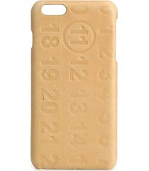 maison margiela men's calf leather iphone 5 case - natural