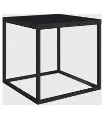 mesa quadrada cube m preto/preto artesano