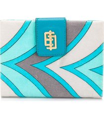 emilio pucci pre-owned 1960's printed wallet - blue