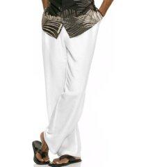 cubavera solid linen-blend drawstring pants 32 inseam