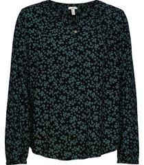 blouses woven blus långärmad svart edc by esprit