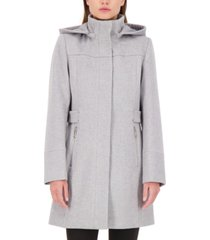 vince camuto hooded a-line walker coat