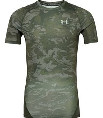 ua hg armour camo comp ss t-shirts short-sleeved grön under armour