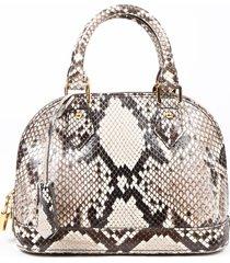 louis vuitton alma bb brown python snakeskin satchel bag brown/multicolor sz: s