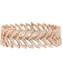 magnipheasant' diamond 18k rose gold bracelet