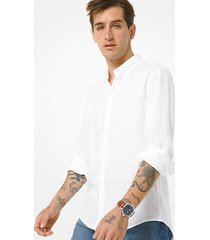 mk camicia slim-fit in lino - bianco (bianco) - michael kors