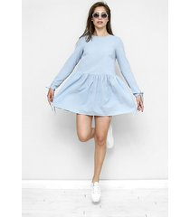 sukienka / tunika z muślinu fabiola błękitna