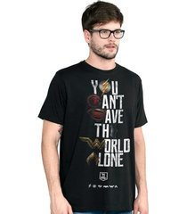 camiseta liga da justiça dc comics you can't save color bandup! masculina