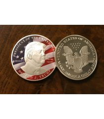 (big dollar size 40mm) colorized detail coin w/case~u.s sell