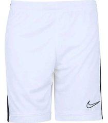 pantaloneta dri-fit academy para hombre - blanco