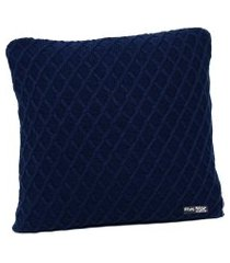 capa de almofada tricot 40x40 c/zíper sofa cod 354.5 azul marinho