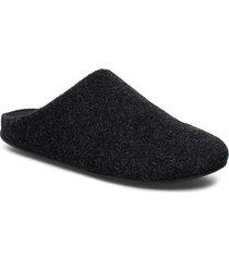 chrissie felt slippers tofflor svart fitflop