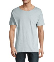 unsimply stitched men's short-sleeve cotton tee - light grey - size s