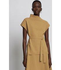 proenza schouler chalk stripe knit top 10965 camel/white/brown l